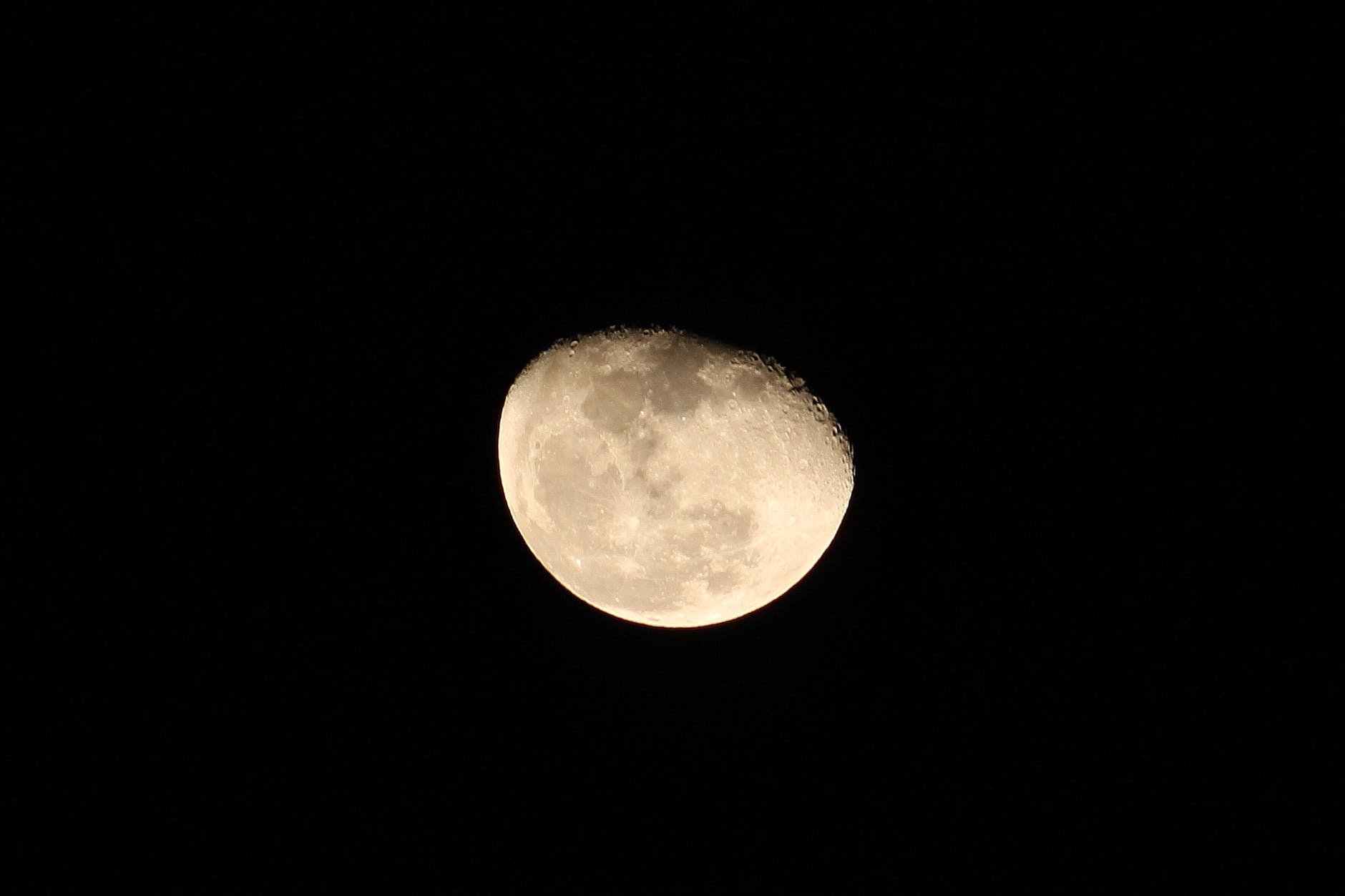 close up of moon in the sky
